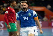 """صورة بأداء """"بطولي"""".. المغرب ينهزم أمام البرازيل ويودع منافسات كأس العالم للصالات -فيديو"""
