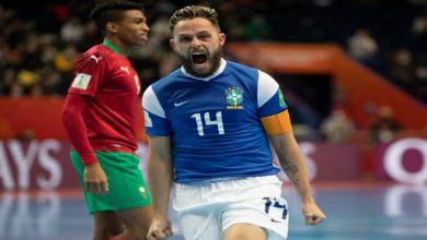 صورة ملخص مباراة المغرب والبرازيل في كأس العالم للصالات