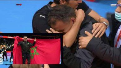"""صورة احتفال وبكاء.. """"فيفا فوتسال"""" يشارك ردة فعل الدكيك بعد تأهل المغرب التاريخي- فيديو"""