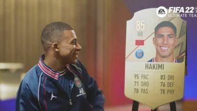 """صورة مبابي وفيراتي.. لاعبو باريس سان جيرمان يعلقون على تقييم حكيمي في """"فيفا 22""""- فيديو"""