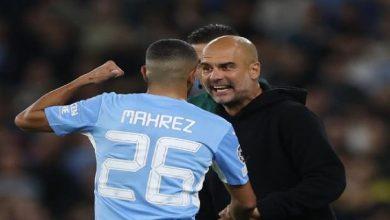 صورة غوارديولا يعلق على ردة فعله تجاه محرز