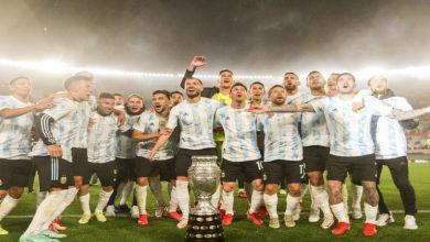 """صورة ميسي ينهار باكيا في احتفال المنتخب الأرجنتيني بـ""""كوبا أمريكا"""" -فيديو"""