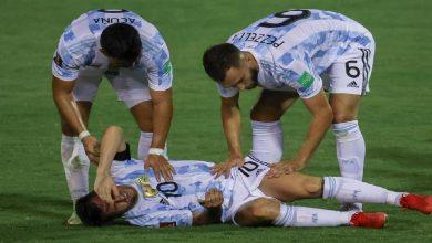 صورة بعد إصابته القوية.. الكشف عن موقف ميسي من المشاركة أمام البرازيل