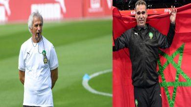 صورة خليلوزيتش يهنئ الدكيك على تأهل المنتخب المغربي لكرة الصالات إلى ربع نهائي المونديال